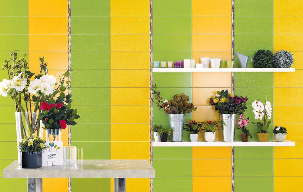 Фото раскладки плитки трёх цветов