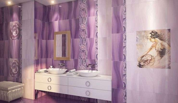 9a2920bdd Gracia ceramica Arabeski purple купить по цене 823 руб.✅Плитка для ...