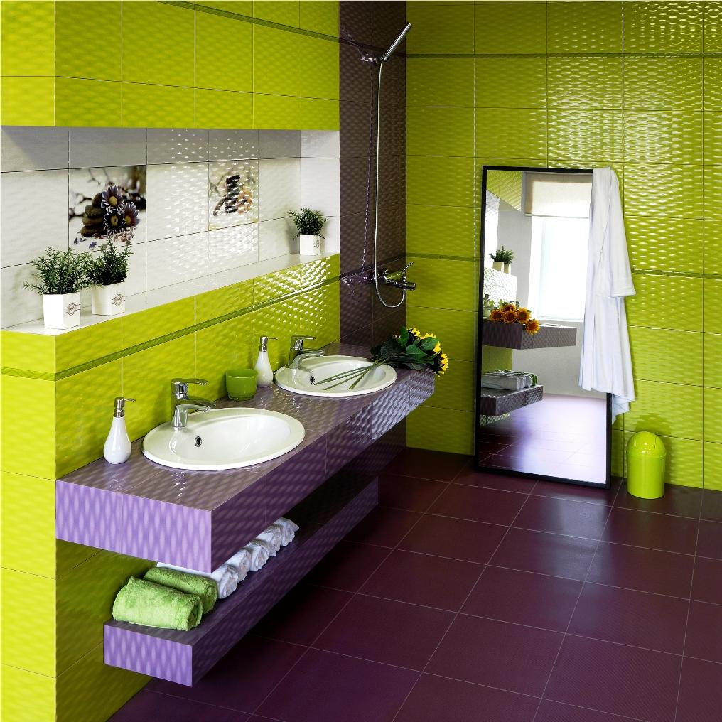 Зеленая ванная комната  № 2278736 без смс
