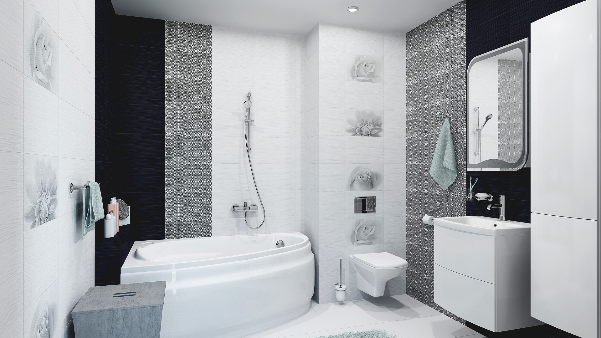 Плитка для ванной камелия
