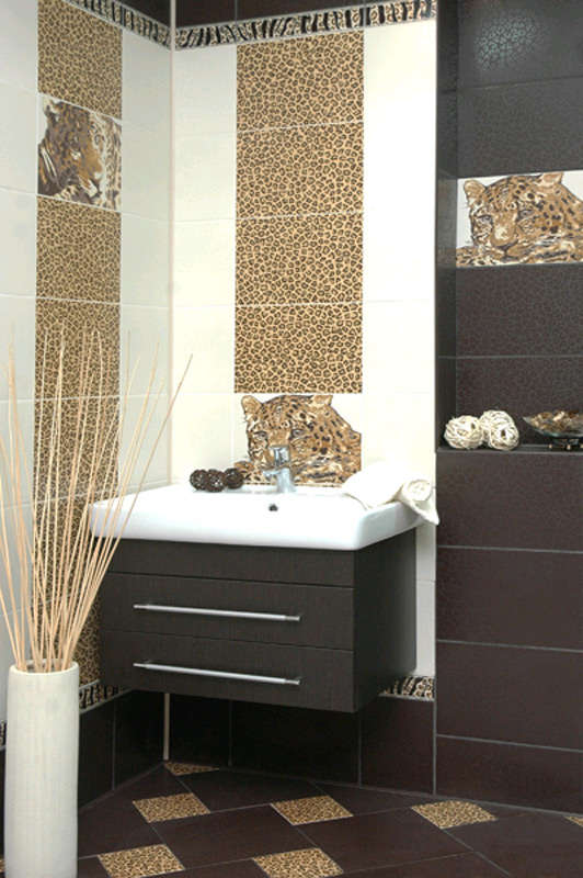 Дизайн ванной леопард