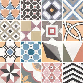 Decor Patchwork Colours (200x200)